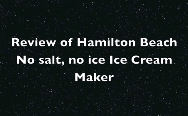 Hamilton Beach 68321Z 1.5 Quart Capacity Ice Cream Maker Video Review by barepantrytalk