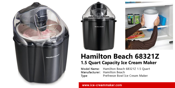 Hamilton Beach 68321Z 1.5 Quart Capacity Ice Cream Maker