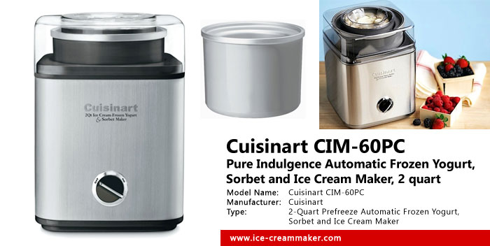 Cuisinart CIM 60PC Pure Indulgence 2 Quart Ice Cream Maker Review