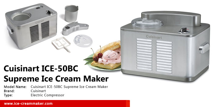 Cuisinart ICE-50BC Supreme Ice Cream Maker Review