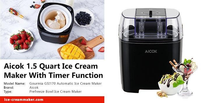 Aicok 1.5 Quart Ice Cream Maker With Timer Function Review