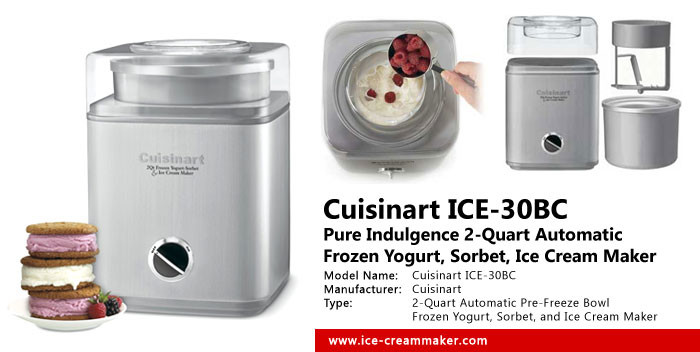 Cuisinart ICE-30BC Pure Indulgence 2-Quart Automatic Frozen Yogurt, Sorbet, and Ice Cream Maker Review