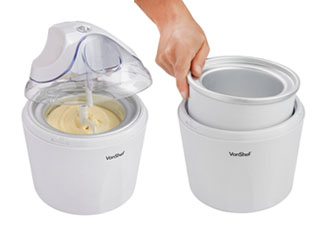 VonShef Ice Cream, Frozen Yogurt and Sorbet Maker Machine 1-1/4-Quart