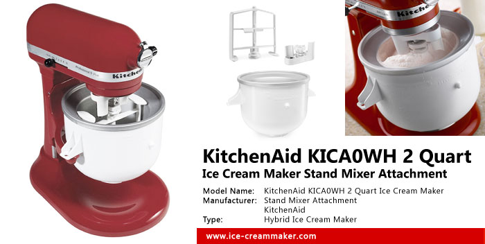 KitchenAid KICA0WH 2 Quart Ice Cream Maker Stand Mixer Attachment Review