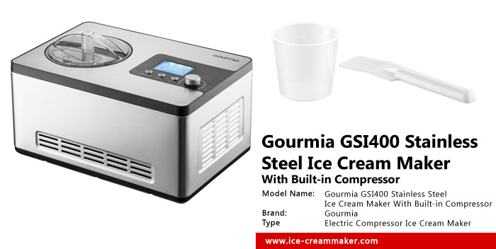 Gourmia GSI400 Stainless Steel Ice Cream Maker With Built-in Compressor Review
