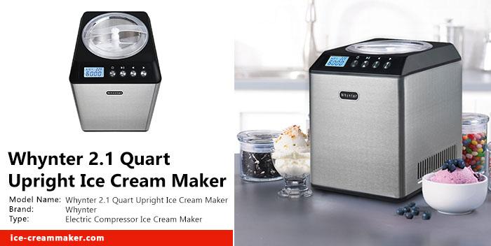 Whynter 2.1 Quart Upright Ice Cream Maker Review